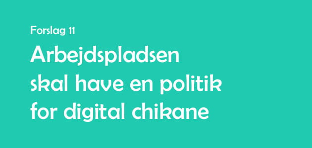 Banner til politik for digital chikane