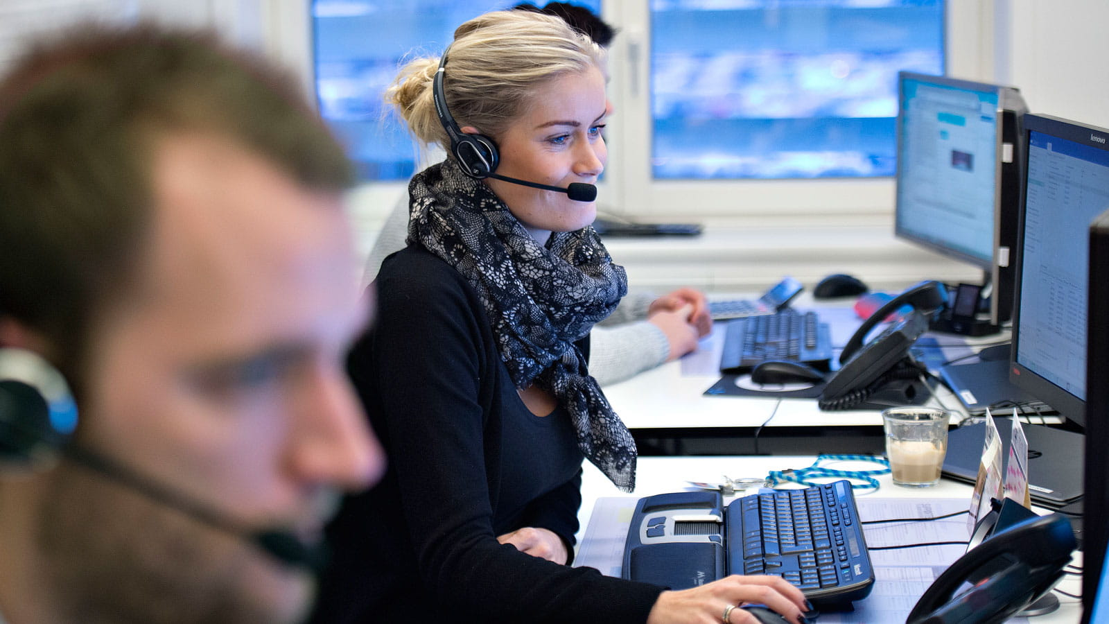 Fotos fra Telenors callcenter
